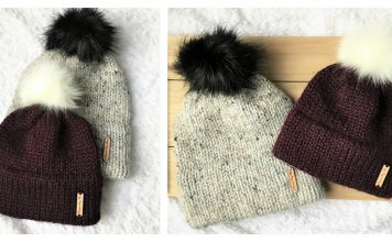Simple Double Brim Beanie Hat Free Knitting Pattern