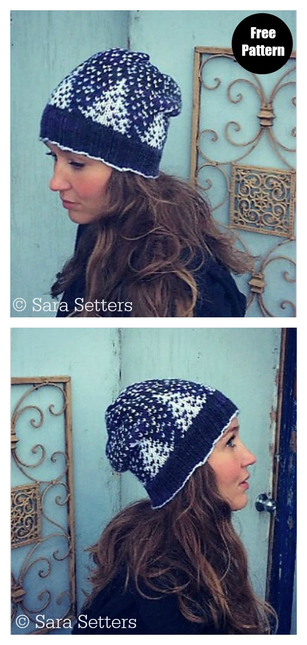 Snowfall Hat Free Knitting Pattern