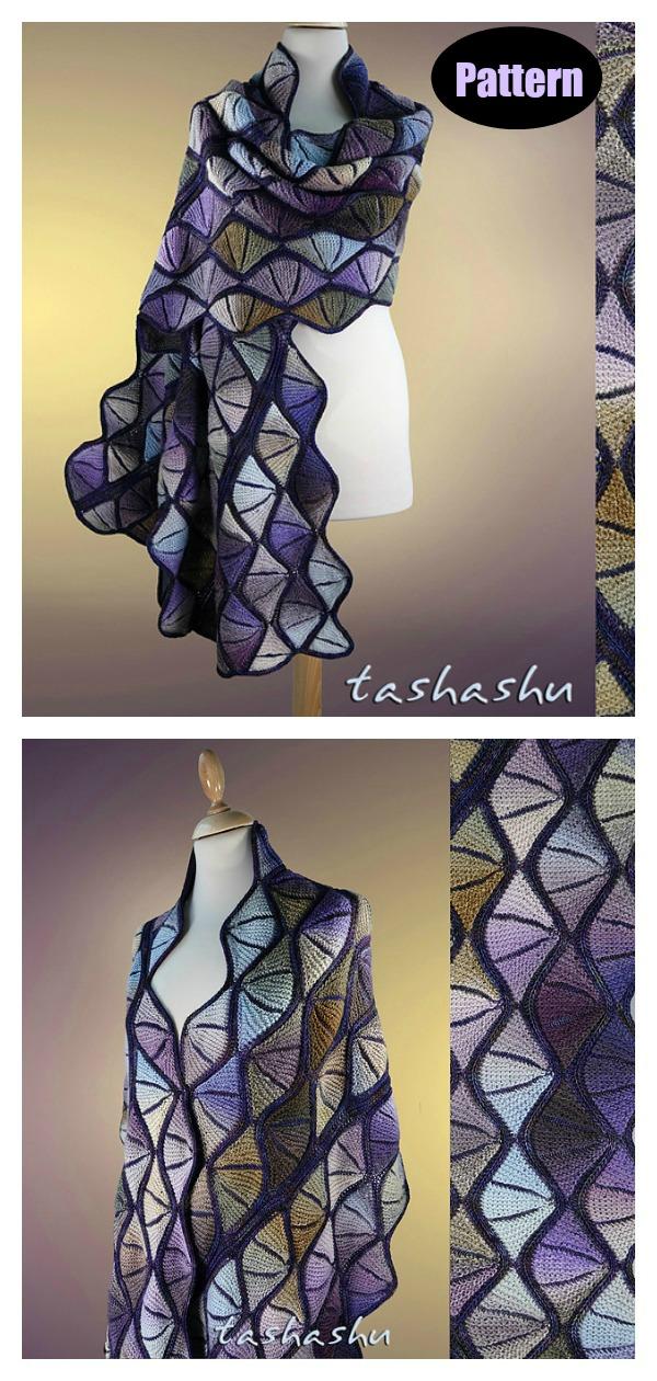 Stained Glass Shawl Knitting Pattern