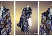 Stained Glass Shawl Knitting Pattern