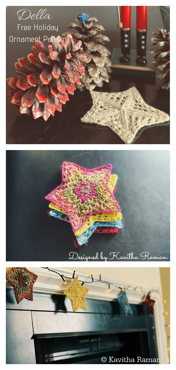 Star Ornament Free Knitting Pattern