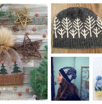 Tree Hat Free Knitting Pattern and Paid