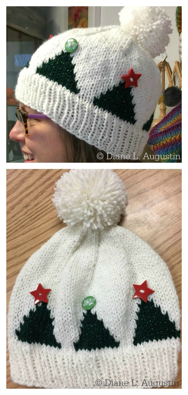 Tree Topper Hat Free Knitting Pattern