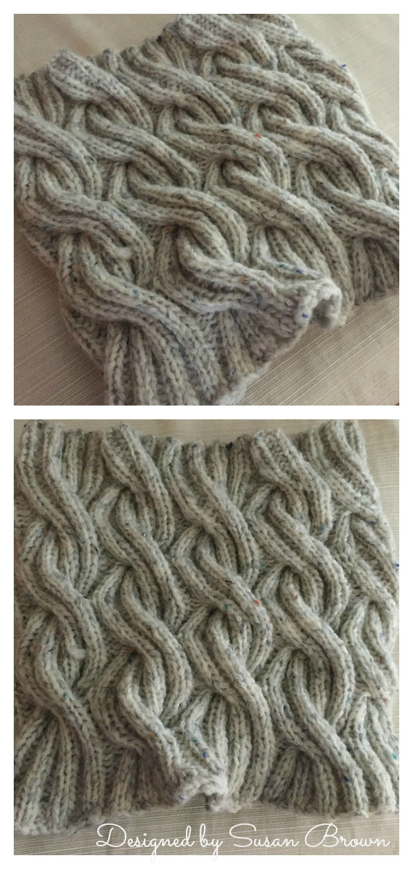 Whirling Winds Cable Cowl Free Knitting Pattern
