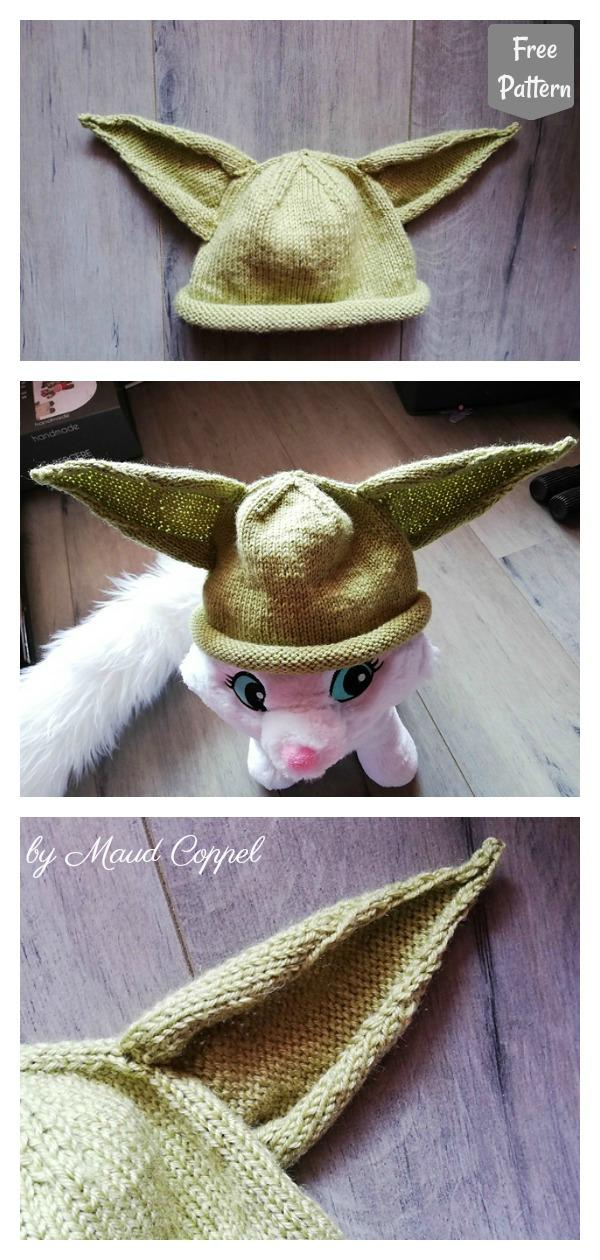 Yoda Baby Hat Free Knitting Pattern