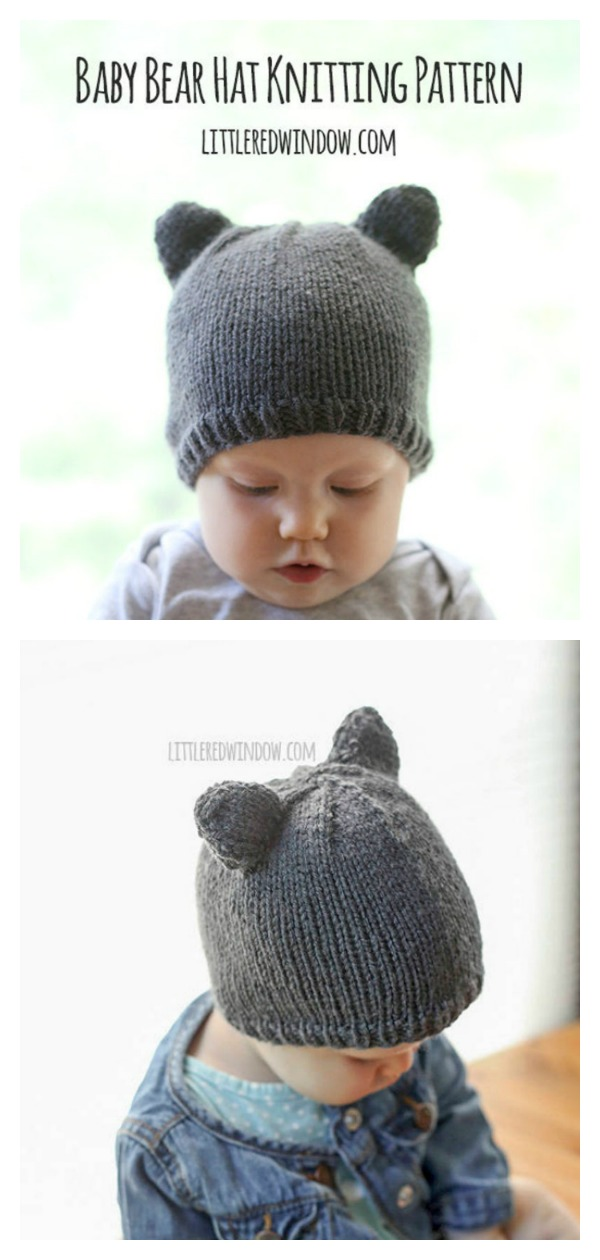 Baby Bear Hat Free Knitting Pattern