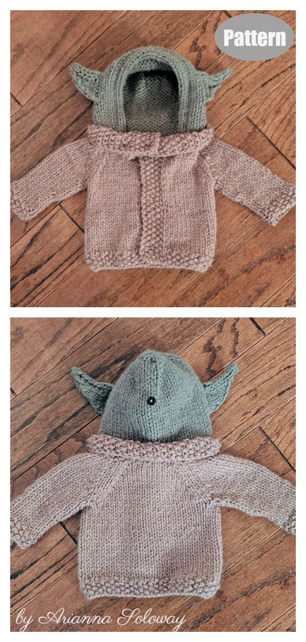 Baby Yoda Sweater Knitting Pattern