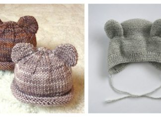 Bear Baby Hat Free Knitting Pattern