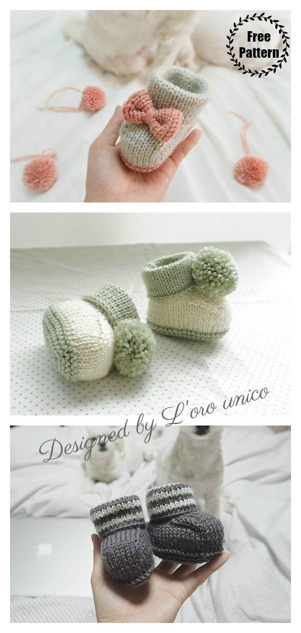 Bon Baby Booties Free Knitting Pattern