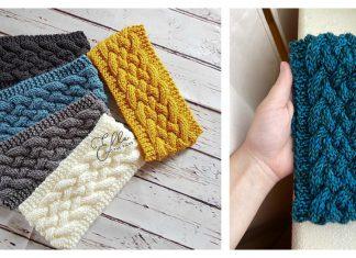 Cable Headband Free Knitting Pattern
