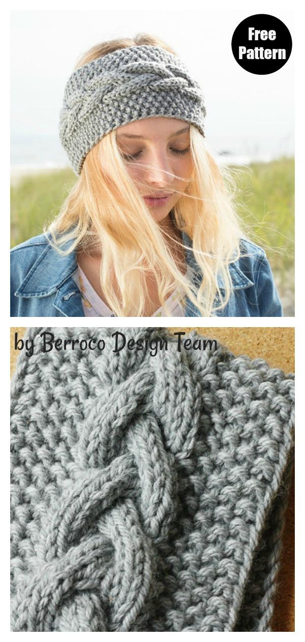 Calisson Cable Headband Free Knitting Pattern