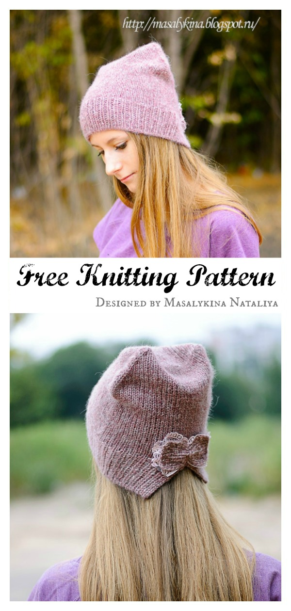 Cat Hat Free Knitting Pattern