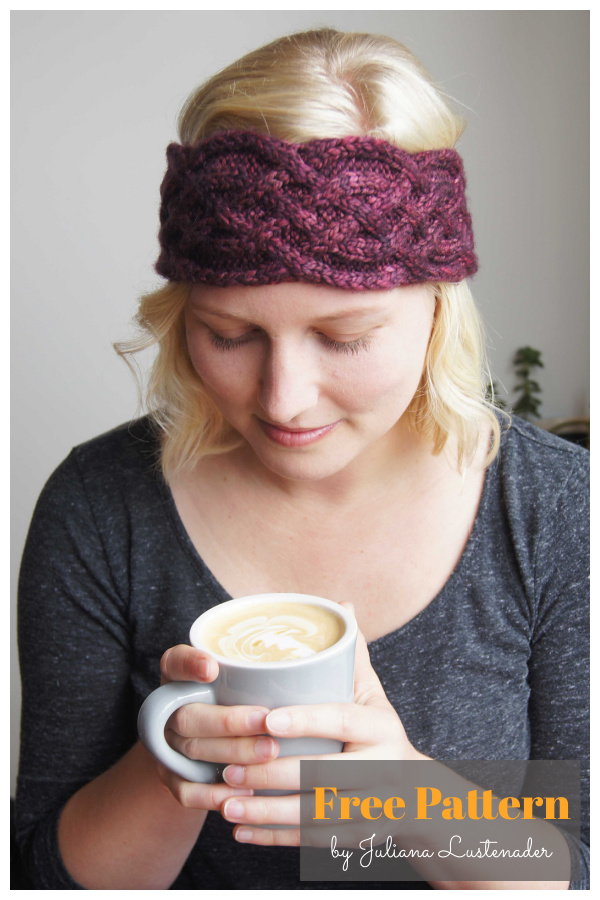 Celtic Headband Free Knitting Pattern