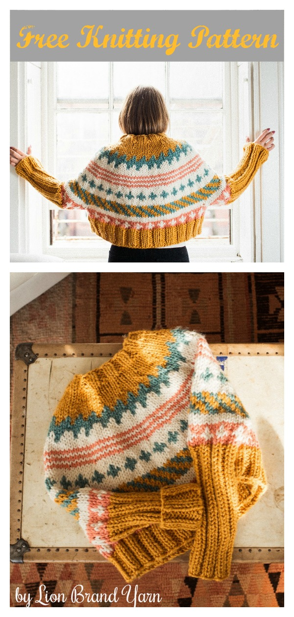 Ciara Pullover Sweater Free Knitting Pattern