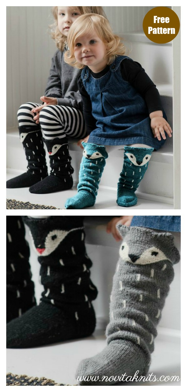 Fox Socks Free Knitting Pattern