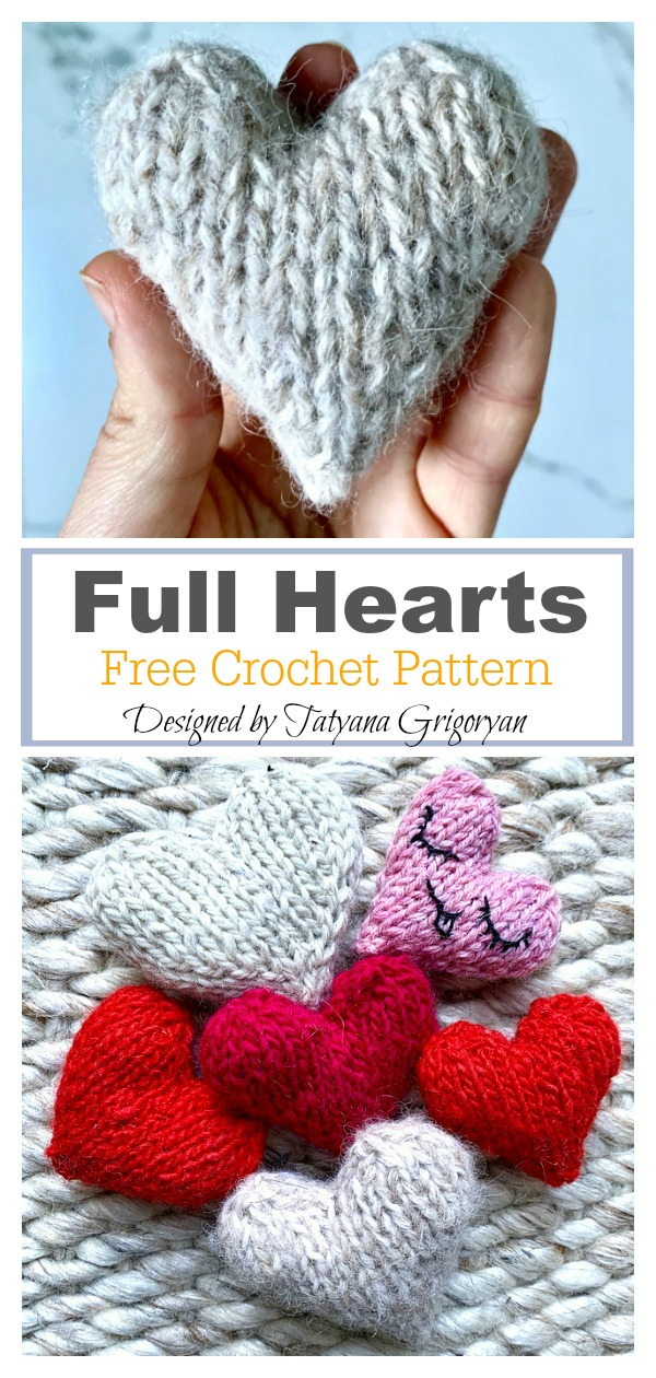 Full Hearts Free Knitting Pattern