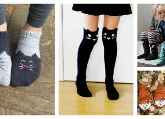 Fun Animal Socks Free Knitting Pattern and Paid