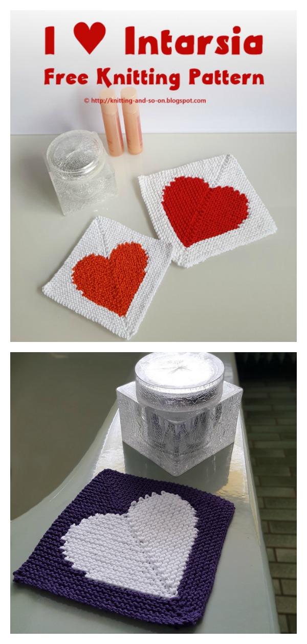 Heart Washcloth Free Knitting Pattern