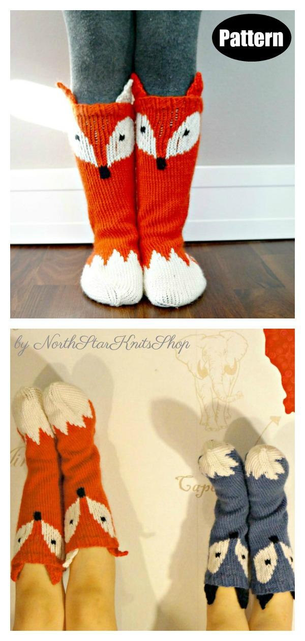 Little Foxy Socks Knitting Pattern