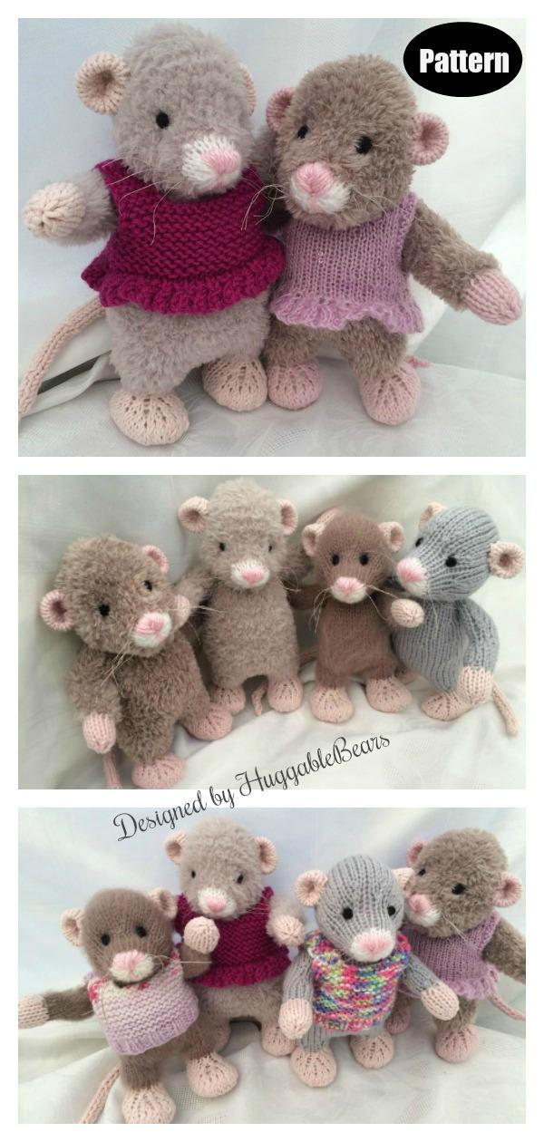 Little Rattie Knitting Pattern