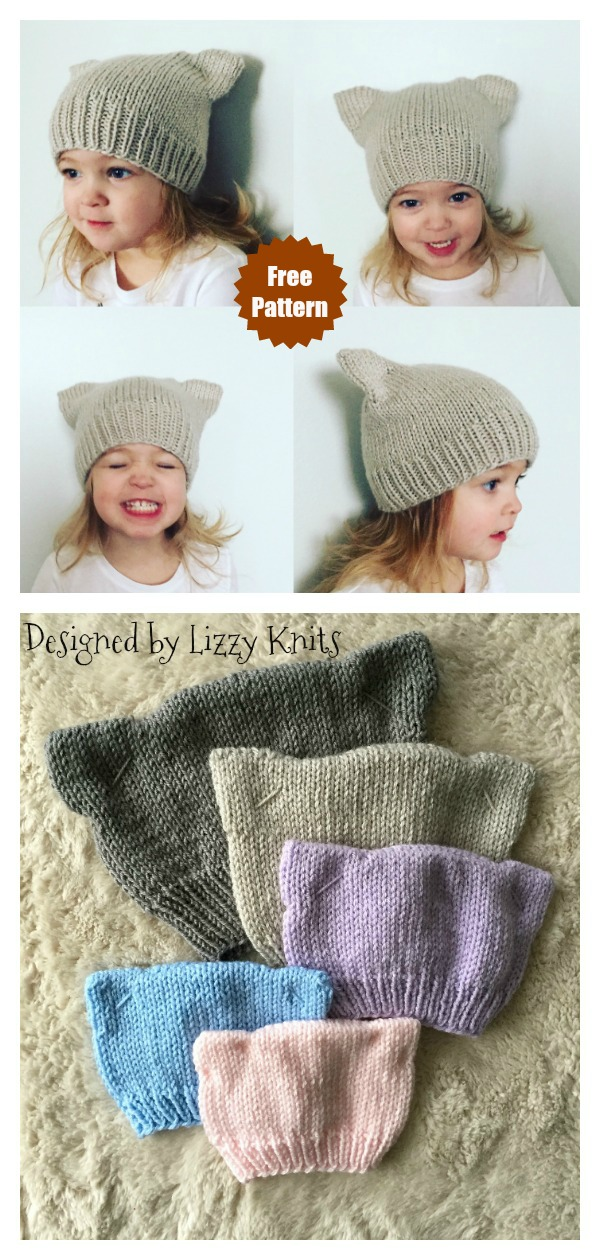 Lola Cat Hat Free Knitting Pattern