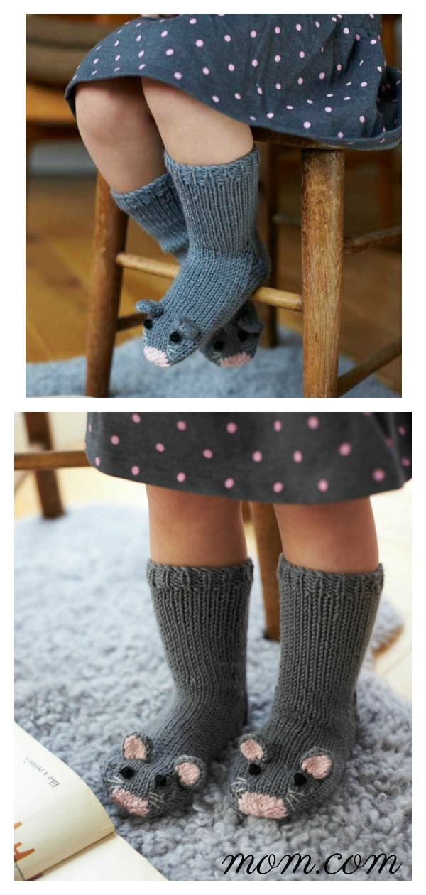 Mice Socks Free Knitting Pattern