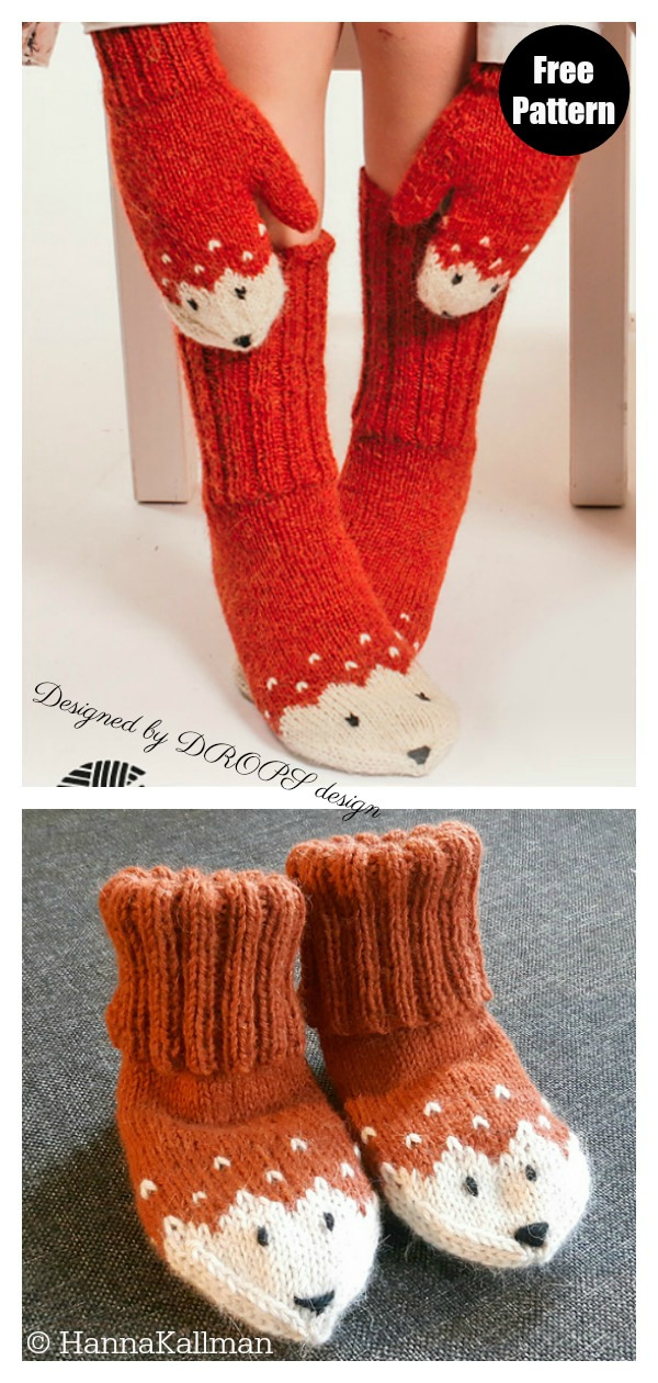 Miss Fox Socks Free Knitting Pattern