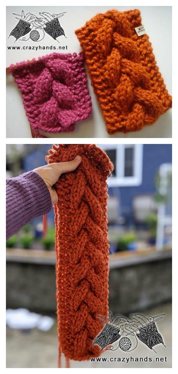 Super Bulky Braided Headband Free Knitting Pattern