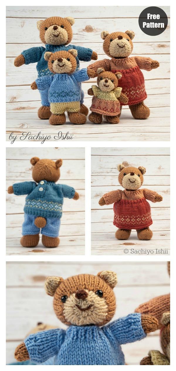 Bear Family Free Knitting Pattern