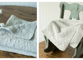 Block Stitch Baby Blanket Free Knitting Pattern