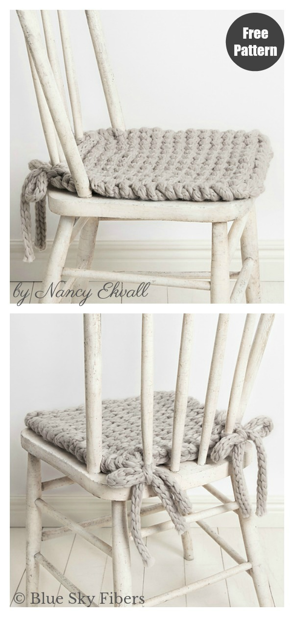 Champlin Chair Cushion Free Knitting Pattern