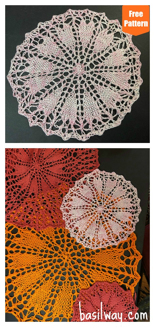 Circle of Love Doily Free Knitting Pattern