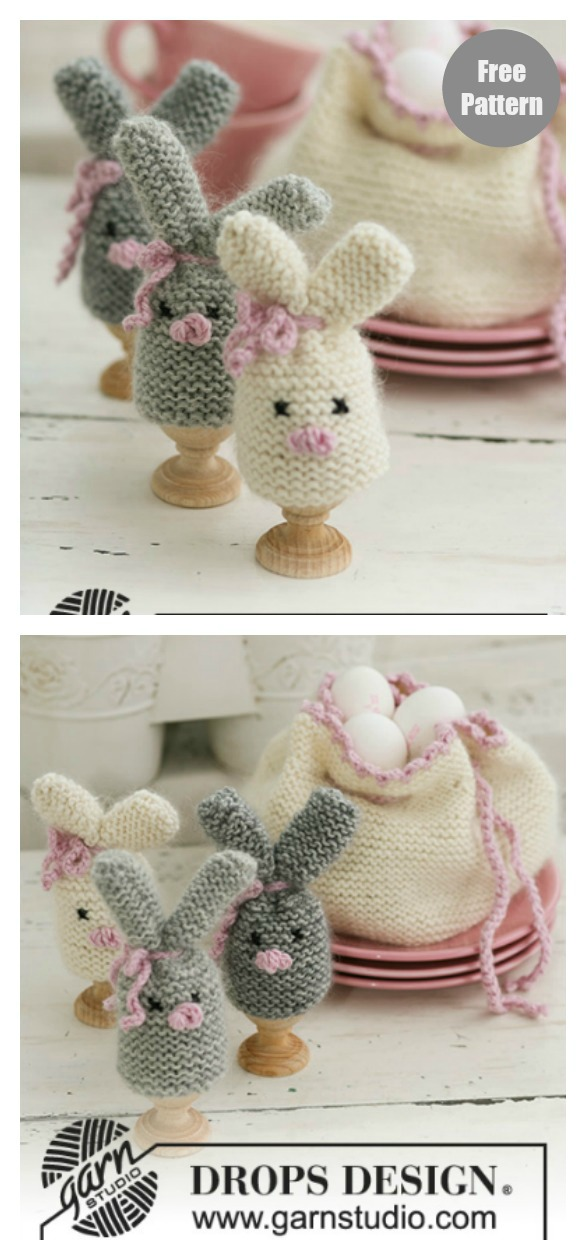 Cozy Bunnies Egg Warmers Free Knitting Pattern