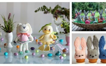 Easter Bunny Egg Cozy Free Knitting Pattern