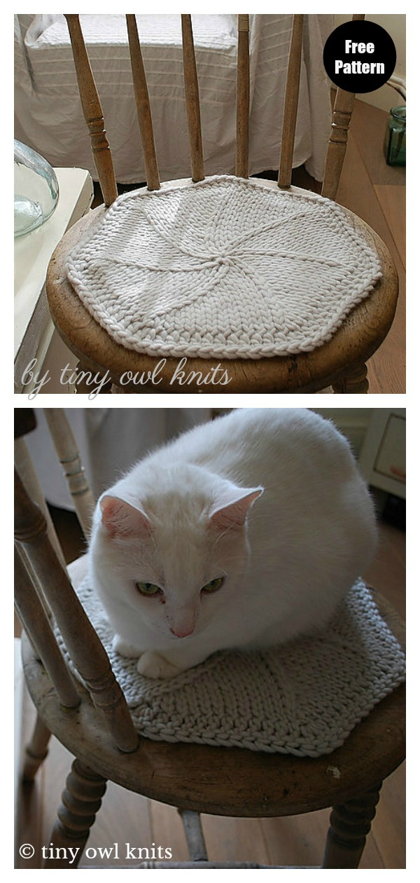 Fairy Star Chair Pad Free Knitting Pattern