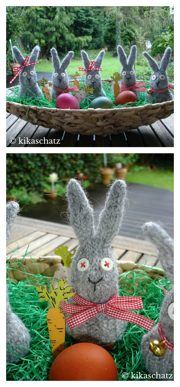 Felted Egg Cozy Bunny Free Knitting Pattern