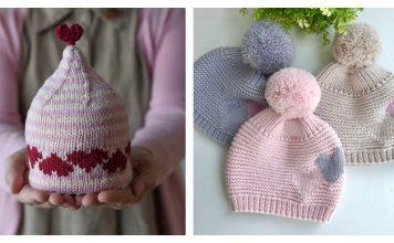 Hearts Hat Knitting Patterns