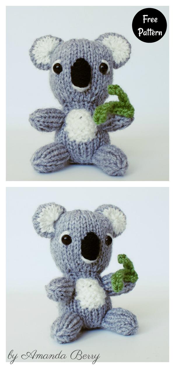 Kimmy Koala Amigurumi Free Knitting Pattern