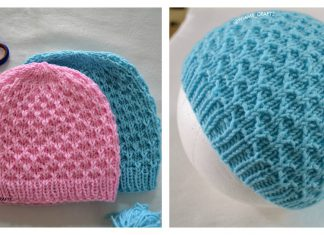 Mesh Stitch Hat Free Knitting Pattern