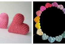 Mini Heart Free Knitting Pattern