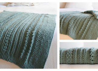 Sampler Chunky Blanket Free Knitting Pattern