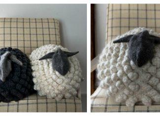 Sheep Pillow Free Knitting Pattern
