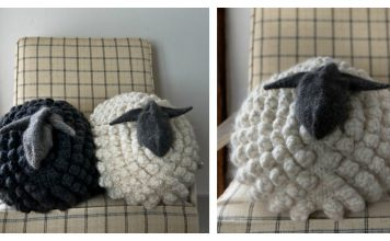 Sheep Pillow Free Knitting Pattern