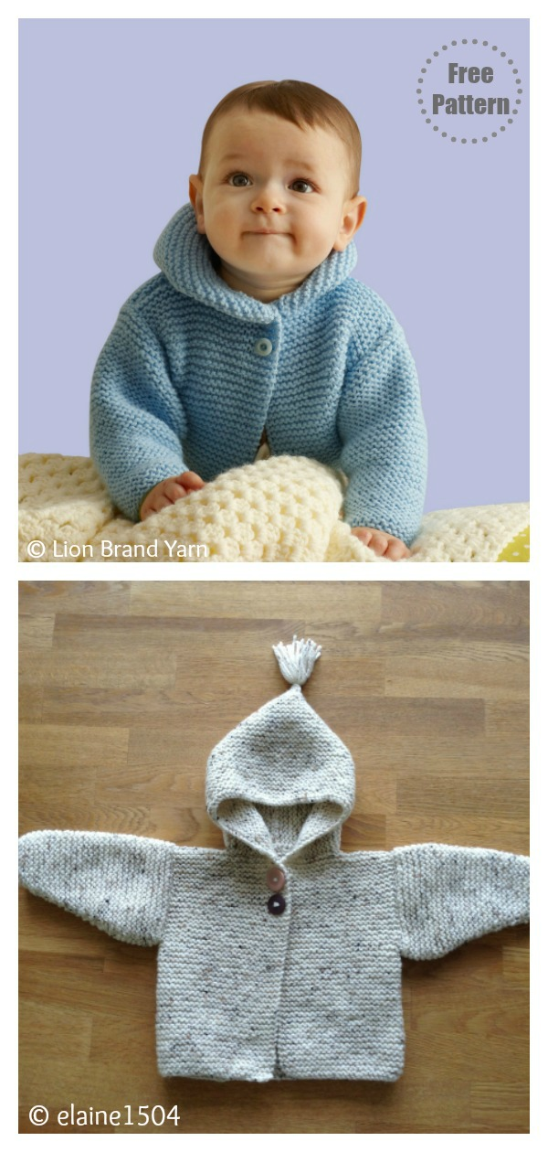 Storybook Baby Hoodie Free Knitting Pattern