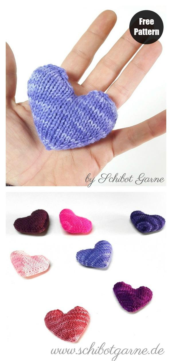 Valentine Heart Free Knitting Pattern