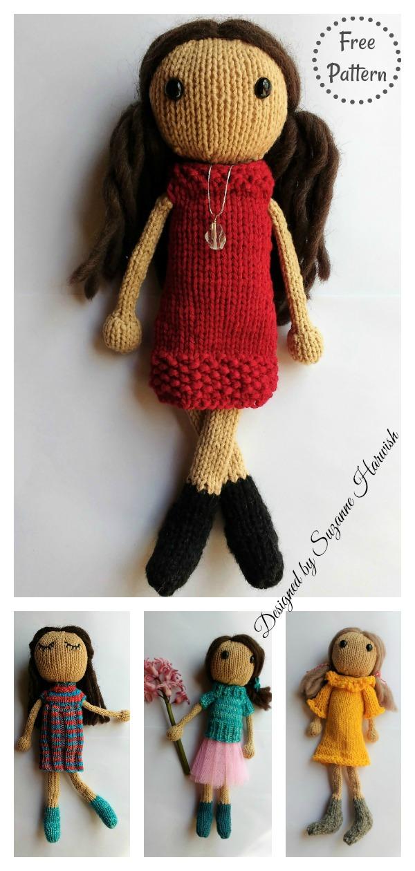 Adorable Doll JOHANKA Free Knitting Pattern