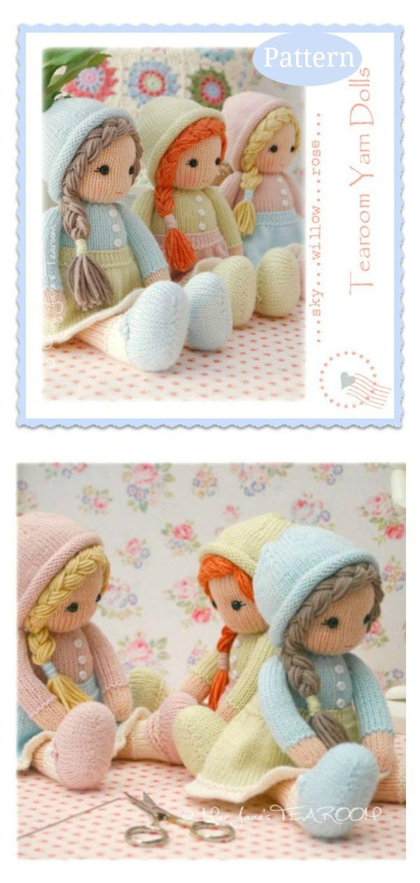 Adorable Little Yarn Dolls Knitting Pattern
