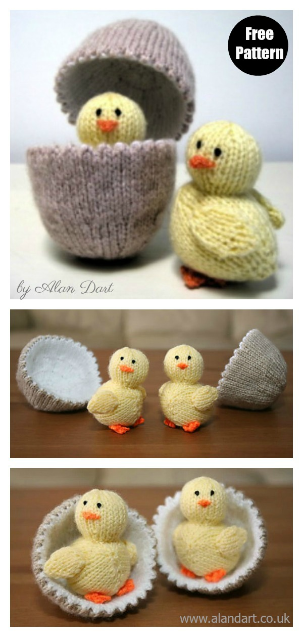 Chick and Egg Free Knitting Pattern