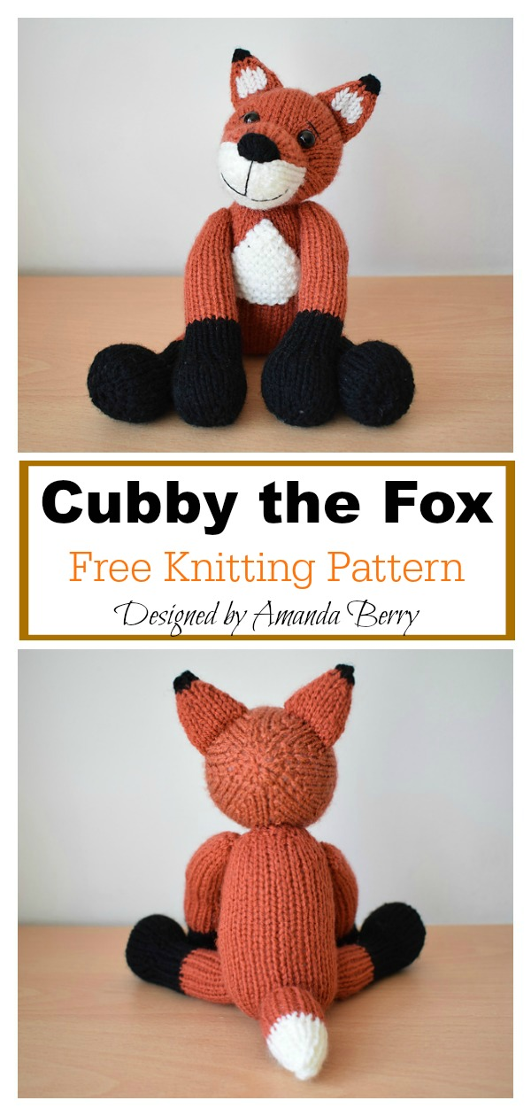 Cubby the Fox Free Knitting Pattern