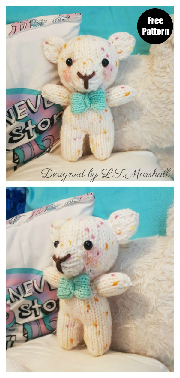 Easy Charity Bear Free Knitting Pattern